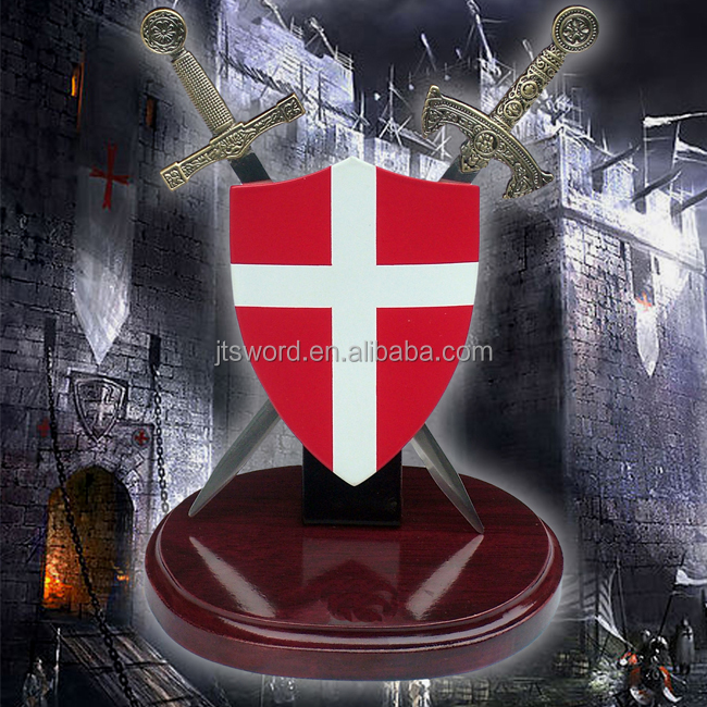 miniature templar shield and sword for sale