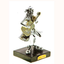 silver polyresin figurines musician band crafts