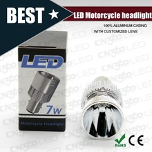 latest mini type cree 7W motorcycle led headlights