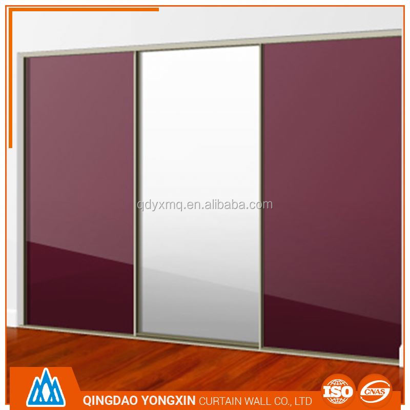 best selling cheap price aluminium framed fire rating glazing free standing wardrobes sliding doors