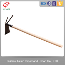 Wooden handle farm hand pricking tool garden hoe