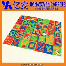 Letter printed polyester eco-friendly children play rug