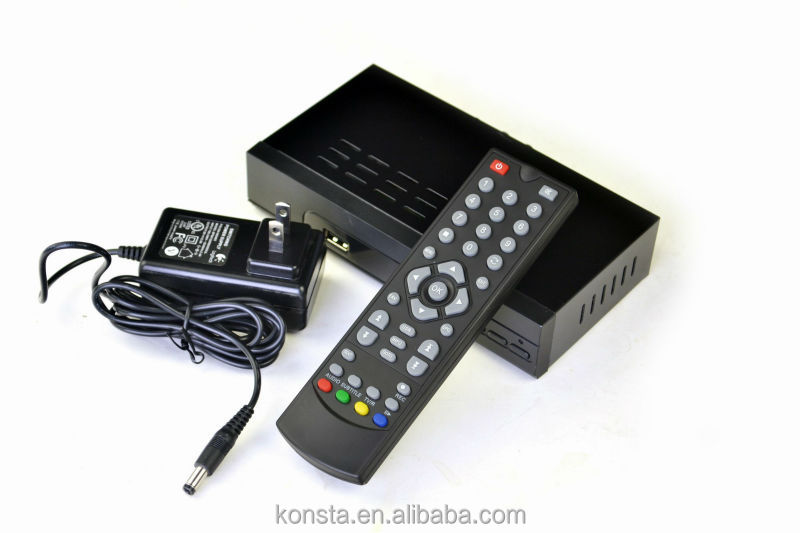 Best sale DVBT2 setop box with out AV output, DC 12V power support Remote control Digital TV display LED display