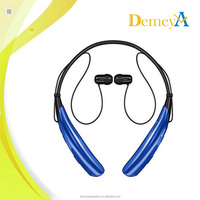 HBS-750 Magnetic Earpiece Necklace Bluetooth Dual Double Wireless Headphones For TV