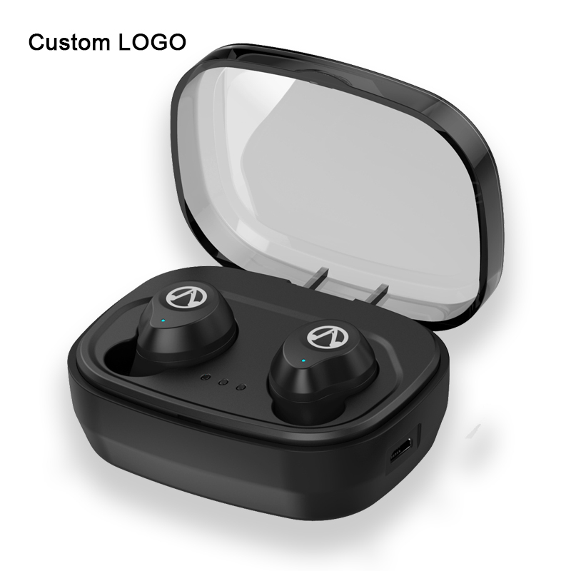 New Logo Custom earbuds tws headphone wireless bluetooth earphone with charging case for samsung
