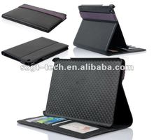 Newest design PU leather case for iPad mini with standing and belt
