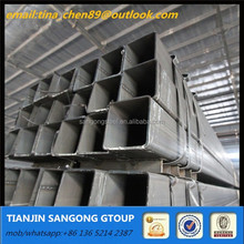 Hot dip welded rectangular square Hollow Section Hot rolled galvanized steel pipe/hollow section/tube 8 for table