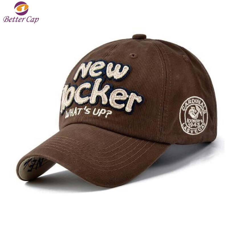 High quality new style customized embroidery 6 panel fashion casual cap men