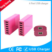 mobiles phone accessories 5v 60w 6 port micro usb multi travel charger
