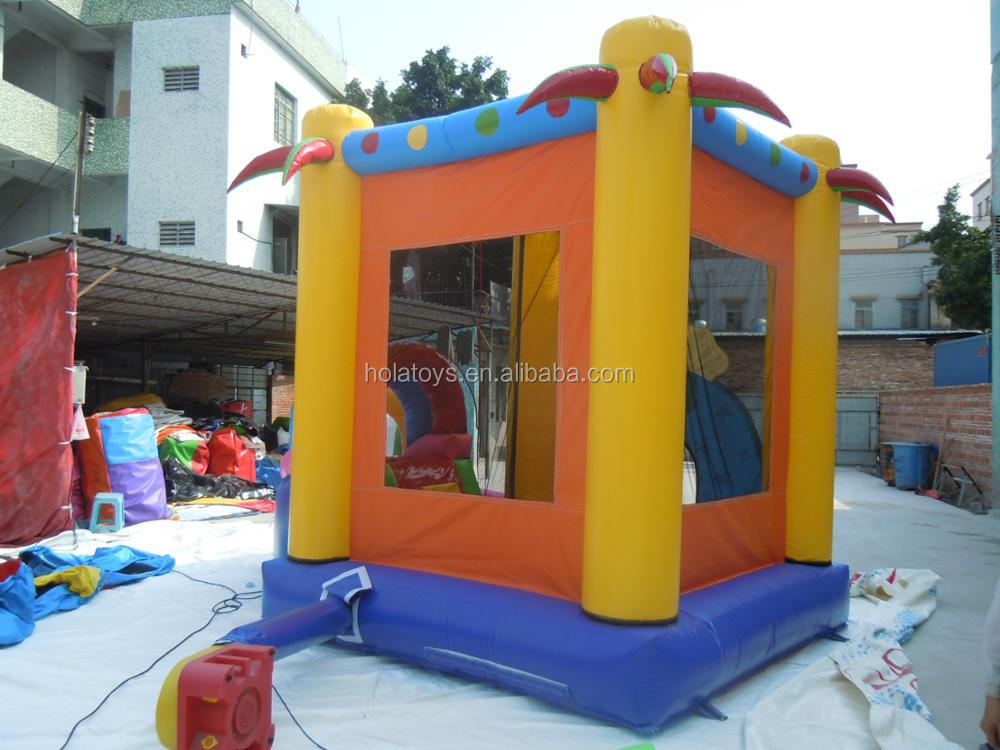 Hola yellow inflatable castle /lovely cartoon inflatable bouncer for sale