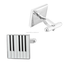 2015 ZHENSEN fashion jewelry 3D piano novelty silver cufflinks