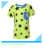 Summer Kid Children Cotton Five Star Pattern T-shirt Clothing