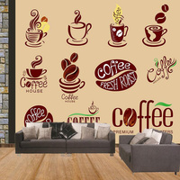 Theme durable waterproof theme murals coffee fast food shop decoration design 3d natural wallpaper