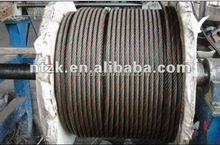 ungalvanized or galvanized steel wire rope 6X37+IWRC 36mm for lifting and drawing