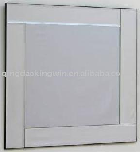 moderno vidrio biselado espejo marco