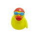 Custom Plastic rubber floating swimming glasses bath duck toy