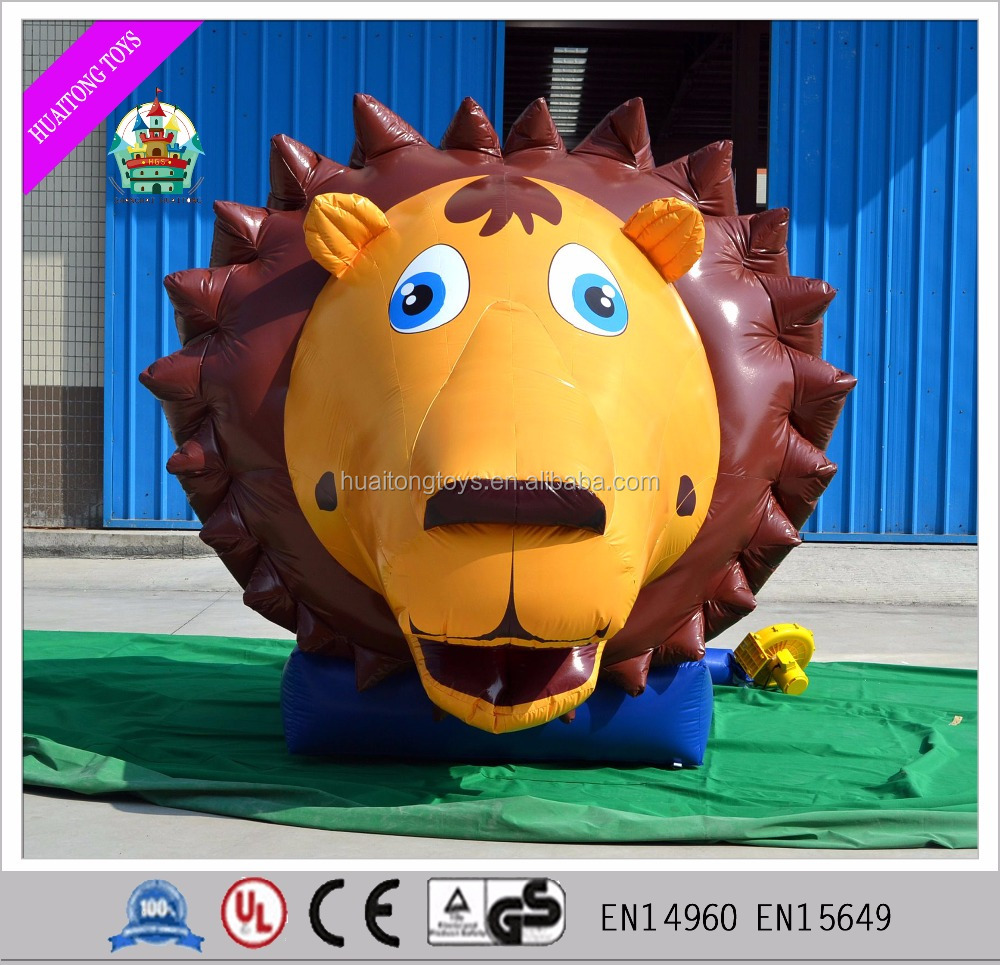 2016 nice painting hot sale 2*2*2.5 m animal inflatable advertising lion/ snake/ deer