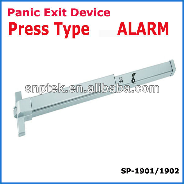UL push panic bar lock panic exit device WITH ALARM press type europe type america type