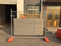 Trade assurance Galvanized 1800*2400mm temporary panel fence/ Silver color Newsland temporary fen