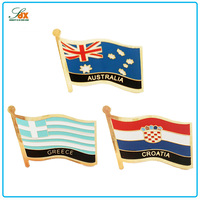 Customize Cheap Stylish Metal Pin National Flag Badges