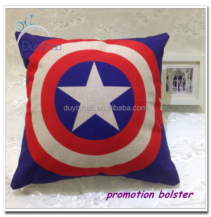 promotion soft Polyester sofa bolster bedding bolster pillow