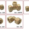 Brass Valve Fitting Compression Fitting For