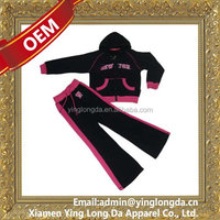 Quality stylish embroidery design ladies jogging suits