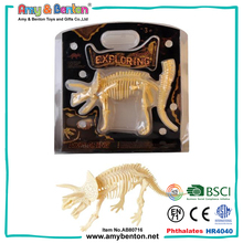 Educational funny small plastic dinosaur skeleton fossil toy