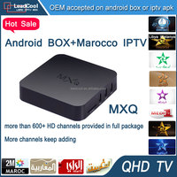 Pre-Installed Kodi/XBMC Amlogic S805 Quad Core Mxq Tv Box WIFI IPTV Android Smart TV Box with 3 Months Iptv Service