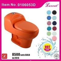 Excellent quality professional ceramic wash down s trap one piece toilet