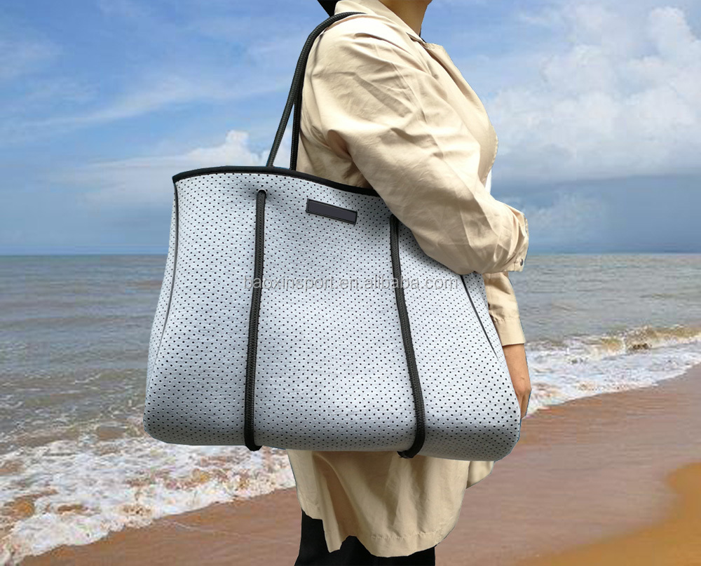 2017Hot Sale Neoprene Tote Beach Bag For Ladies