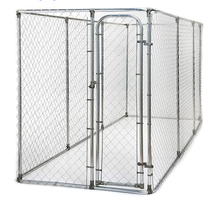2.29m x 3.96m x 1.83m height Galvanised Metal Dog Run Kennel with door Galvanised Mesh Full Dog Run Panels