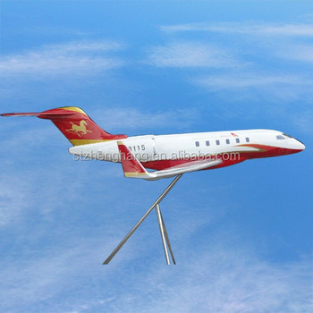bombardier challenger 300 large model planes art home decor for exhibition
