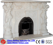 Western style marble fireplace mantel,marble fireplace mental
