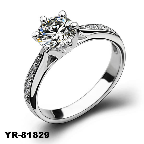 Yiwu Factory Wholesale 2015 New Womens S925 Silver Jewelry Cheap White Gold Wedding Ring