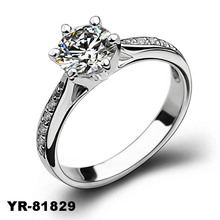 YiWu factory wholesale 2015 new womens s925 silver jewelry cheap white gold wedding ring diamonds rings