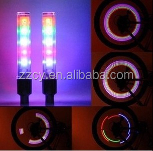 color led wheel light bike car tyre tire valve caps/bicycle led tire flash light