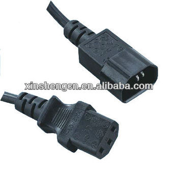 IEC 13 with 14 Power Cable for Home Appliance wire Harness