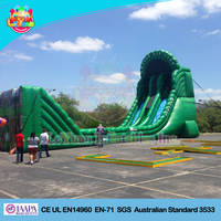 Factory Price Amazing Inflatable Jungle Zip Line, Super inflatable slide