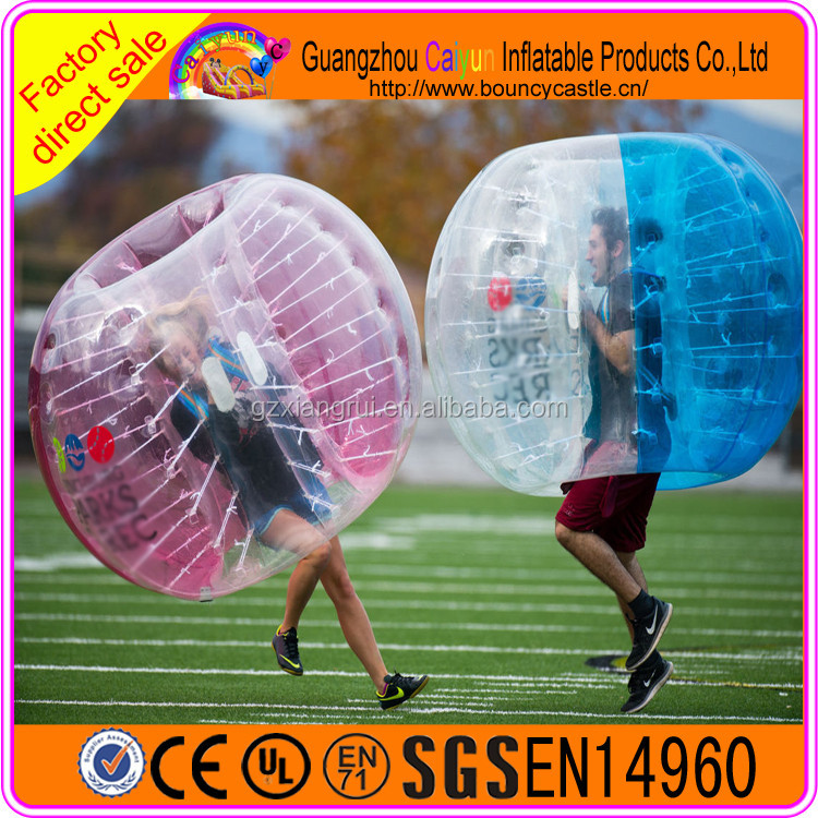 Inflatable Bubble Soccer / Inflatable Body Bumper Ball For Sale