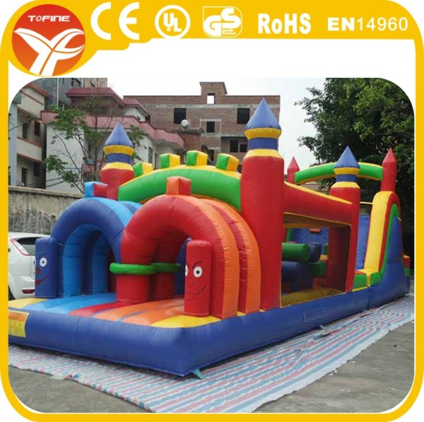 giant inflatable obstacle course for kids, inflatable floating obstacle for commercial