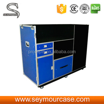 Large Capacity Metal TV Speaker Box Packaging TV Showcase Aluminum Flight Case