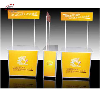 wholesale costom Portable display table promotion counter booth for Department store sample