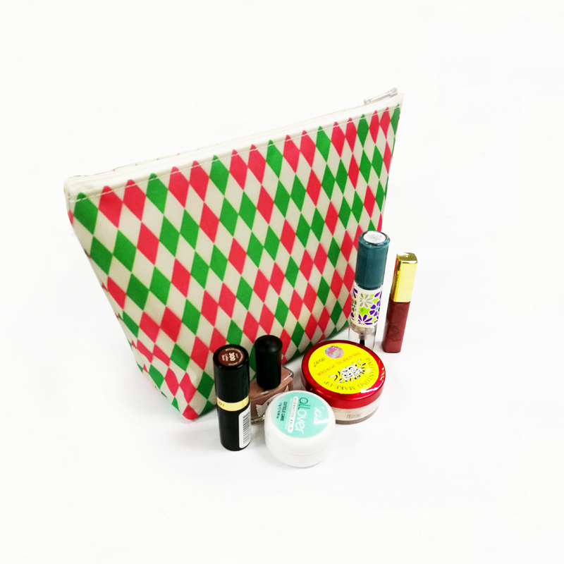 Fabric Ladies Customizable stock makeup pouch
