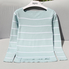 High Elastic Striped Jumper Women 2017 Autumn Winter Women Sweaters And Pullovers Female Tricot Pull Femme Winter Top