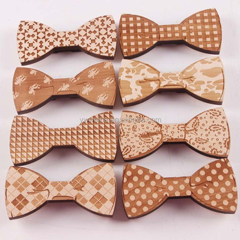 2017 Fashion Wedding Party Men's Neckwear Wooden Bow Tie