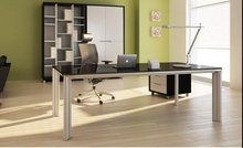 China manufacturer best selling cheaper rectangular glass office executive desk manager desk boss table