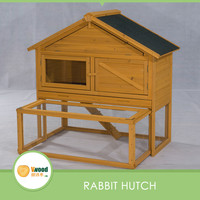 Natura Wooden Backyard Bunny Rabbit Cage With Run Underneath