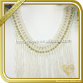 Elegant neckline scarf long tassel trim for dresses FT-033