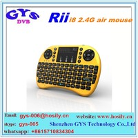 2016 best selling Rii Mini x1 2.4Ghz Wireless i8 Keyboard with Mouse for Google TV